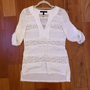 White lace BCBG top